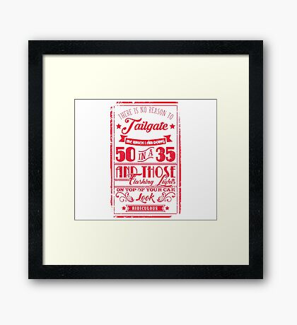 50 in a 35 (RED) - Cloud Nine Edition Framed Print