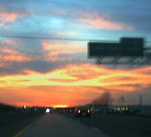 Sunset going home from work hwy 70 west by candy