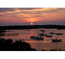 Marthas Vineyard Sunset Photographic Print