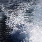 Water Behind A Ship by Henrik Lehnerer