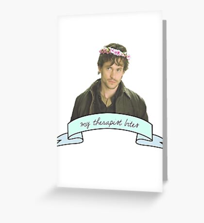 Will Graham's therapist really.......... bites Greeting Card