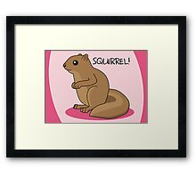 Squirrel Is Squirrel Framed Print