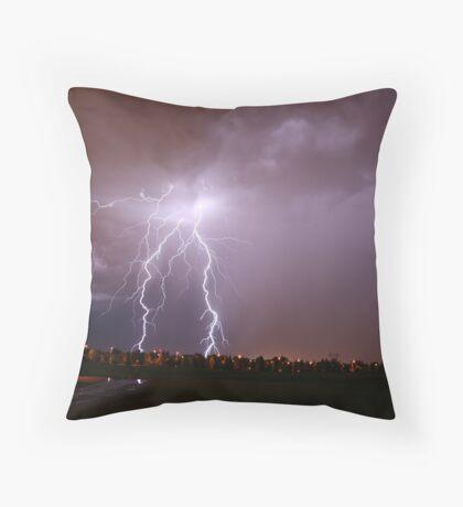 Summer lightning Throw Pillow