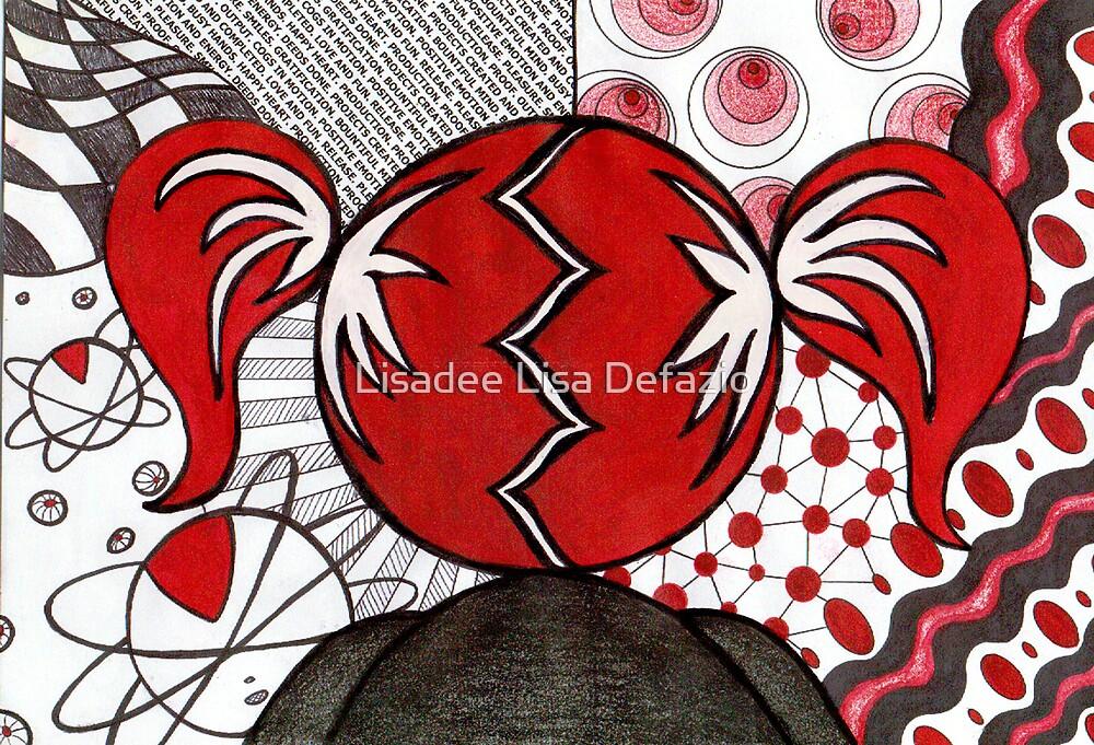 Magenta liked using her imagination. by Lisadee Lisa Defazio