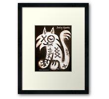 Smug Cat Framed Print