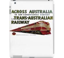 Retro Comm Rails Poster iPad Case/Skin
