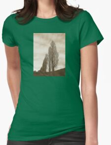Sepia Trees Womens Fitted T-Shirt