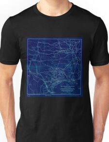 0373 Railroad Maps Map of the Rio Grande and Pecos Railway showing its connections with the Texas Mexican Texas Mexican Short Line Mexican National Texas St Louis and Denver Inverted Unisex T-Shirt