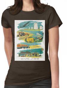 Retro Golden Fleece Womens Fitted T-Shirt