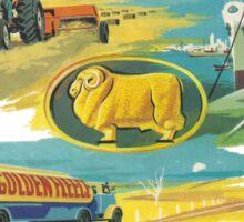 Retro Golden Fleece Sticker