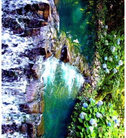 waterfall at busch gardens 2 Sticker
