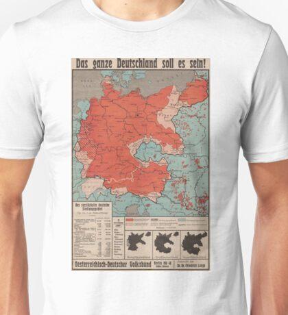 """1930s German Poster """"Das ganze Deutschland soll es sein!"""" Unisex T-Shirt"""