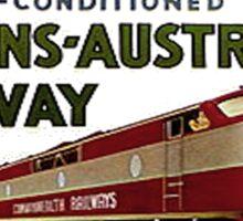 Retro Comm Rails Poster Sticker