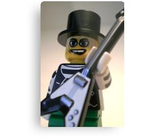 Guitarist Custom Minifigure with Guitar Metal Print