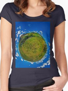 SlieveLeague from the Banks of the Glen River, near Carrick Women's Fitted Scoop T-Shirt