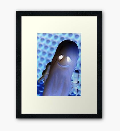 Ghost and Skeleton Minifigure Framed Print