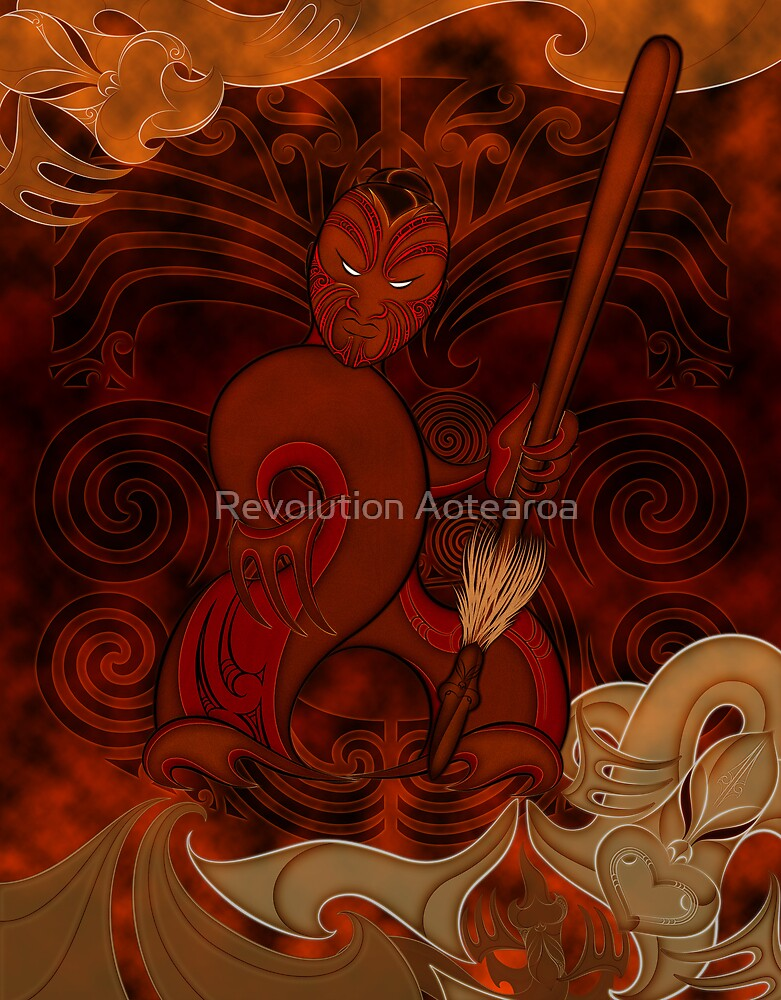Tumatauenga - God of War by Revolution Aotearoa