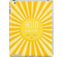 KIDS KAWAII - HAPPY SMILING SUN - HELLO SUNSHINE iPad Case/Skin