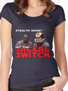 Hit the jackal switch! Women's Fitted Scoop T-Shirt