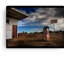 Old fuel bowser Canvas Print