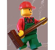 City 'Bert the Street Cleaner' Minifigure Photographic Print