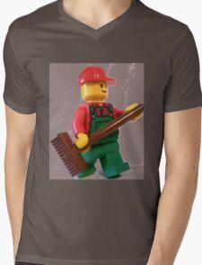 City 'Bert the Street Cleaner' Minifigure Mens V-Neck T-Shirt