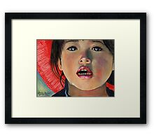 LITTLE GIRL FROM ANTOFAGASTA DE LA SIERRA - ARGENTINA Framed Print