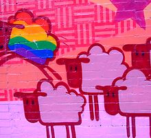 gay sheep by Cheryl Morrice