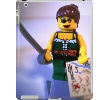 Custom Pirate Girl Minifigure with Treasure Map iPad Case/Skin