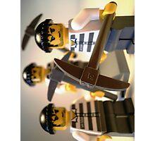 Convict Prisoner City Minifigure with Dynamite Sticks Photographic Print