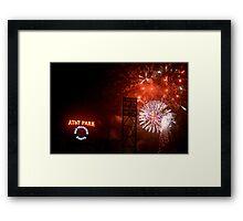 Fireworks - AT&T Park Framed Print