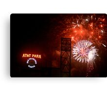 Fireworks - AT&T Park Canvas Print