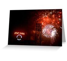 Fireworks - AT&T Park Greeting Card