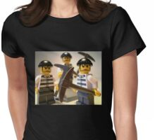Convict Prisoner City Minifigure with Dynamite Sticks Womens Fitted T-Shirt