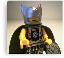Captain Vortex in Black & Silver Costume and Cape Canvas Print