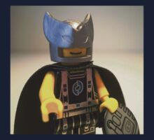 Captain Vortex in Black & Silver Costume and Cape by Customize My Minifig