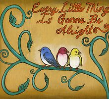 Three Little Birds by Roz Abellera Art Gallery