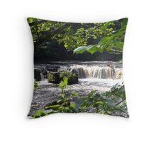 Aysgarth Upper Falls II Throw Pillow