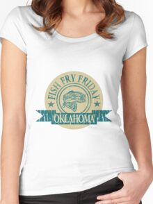 OKLAHOMA FISH FRY Women's Fitted Scoop T-Shirt