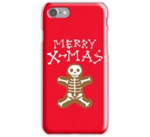 Skeleton Gingerbread Man  iPhone Case/Skin
