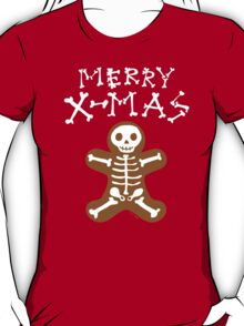 Skeleton Gingerbread Man  T-Shirt