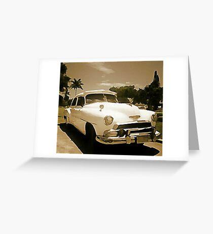 Classic Old Cadillac in Cuba Greeting Card