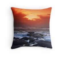 Red Storm Rising Throw Pillow