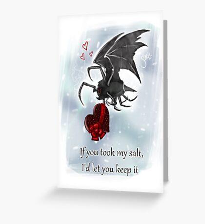 Salt Bat Valentine's Card Greeting Card