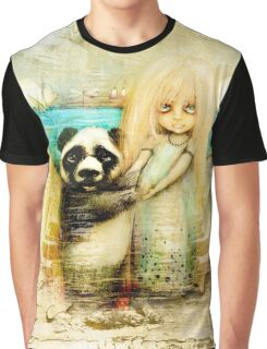 Panda and Snowdrop Graphic T-Shirt