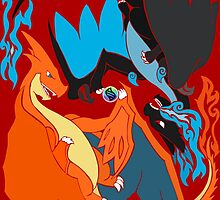 Tribalish Mega Charizard Y (and X) by vaguelygenius