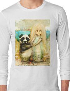 Panda and Snowdrop Long Sleeve T-Shirt