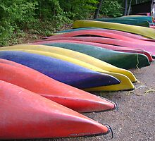 Canoes by Robert Lake