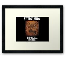Necronomicon: The Original Facebook Framed Print