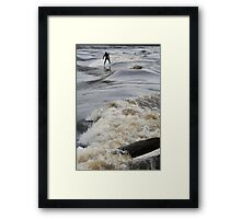 Stand up and surf Framed Print